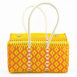 "Sac cabas jaune-orange ""Frida"" : original, coloré, le cadeau idéal !"